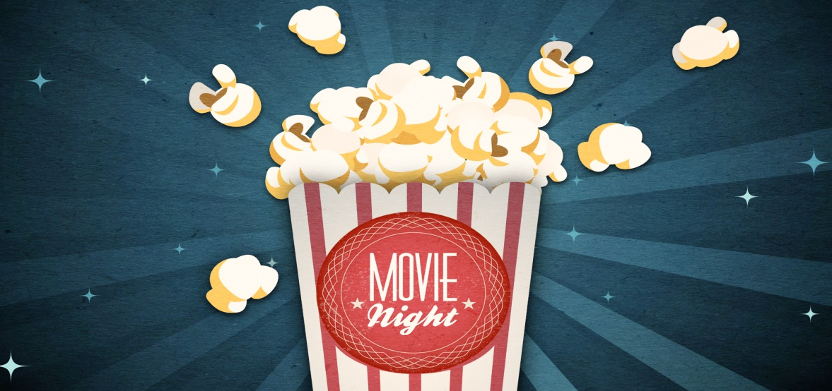 evento per bambini in inglese popcorn night
